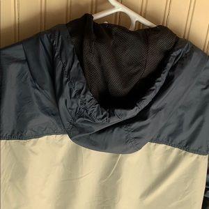 H&M. Men's navy and khaki hooded windbreaker. M.
